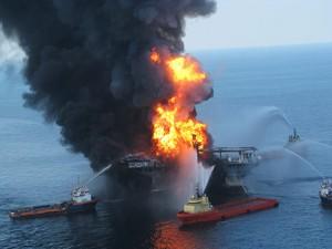 The Deepwater Horizon Explosion on 20 April, 2010